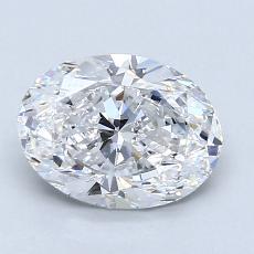 推薦鑽石 #2: 1.50  克拉橢圓形切割