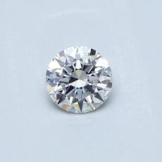 0.30-Carat Round Diamond Ideal E VVS2