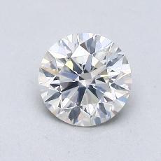 0,76 Carat Rond Diamond Idéale I SI2