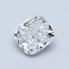 1,00 Carat Coussin Diamond Très bonne D VS1