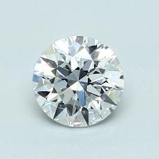 0,85 Carat Rond Diamond Idéale D VVS2
