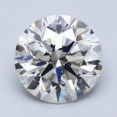 2.01-Carat Round Diamond Ideal H SI1