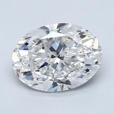 1.51-Carat Oval Diamond Very Good D SI1