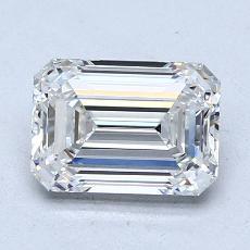 1.51-Carat Emerald Diamond Very Good G VVS1