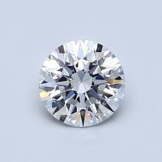0.70-Carat Round Diamond Ideal E VS2