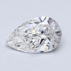 1.00-Carat Pear Diamond Very Good F SI2