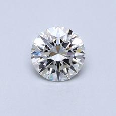 0.40-Carat Round Diamond Ideal E VVS2