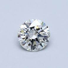 0.50-Carat Round Diamond Ideal G VS2