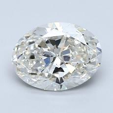 1.50 Carat 椭圆形 Diamond 非常好 I SI1