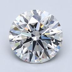 2,02 Carat Rond Diamond Idéale F SI1