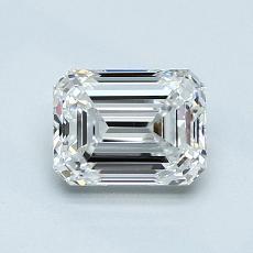 0.90-Carat Emerald Diamond Very Good D VS1