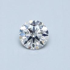 0.30-Carat Round Diamond Ideal E SI1