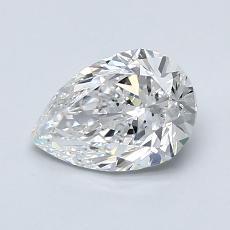 1.00 Carat 梨形 Diamond 非常好 E VS2