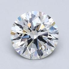 1,70 Carat Rond Diamond Idéale H VS2
