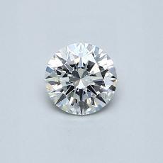 0.40-Carat Round Diamond Ideal E VS1