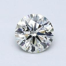 0.80 Carat 圓形 Diamond 理想 J SI1