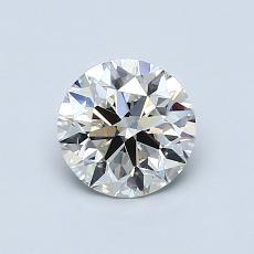 0.80-Carat Round Diamond Ideal J VVS2