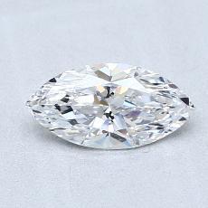 推薦鑽石 #3: 0.61 克拉欖尖形切割