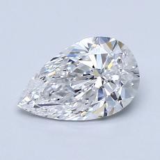 1.00-Carat Pear Diamond Very Good D SI1