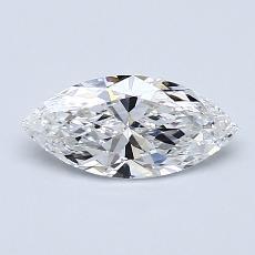 推薦鑽石 #1: 0.61 克拉欖尖形切割