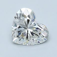 Piedra recomendada 3: Forma de corazón de 1.21 quilates