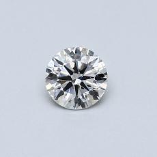 0.30-Carat Round Diamond Ideal I SI1