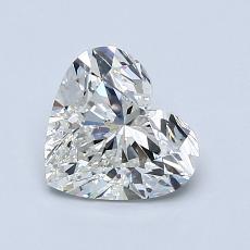 推荐宝石 3:1.11 克拉心形