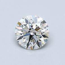 Pierre actuelle: Taille ronde, 0,80carats