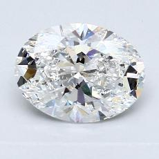 1.55 Carat 橢圓形 Diamond 非常好 E VS2