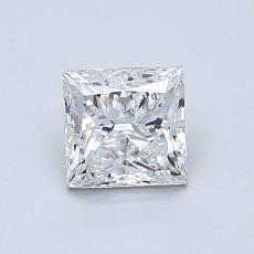 0,90 Carat Princesse Diamond Très bonne F VS2