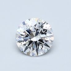 Piedra recomendada 3: Talla redonda de 0.76 quilates