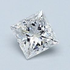 推薦鑽石 #3: 1.01 克拉公主方形切割