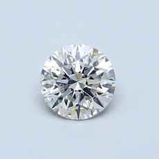 Pierre actuelle: Taille ronde, 0,50carats