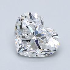 Piedra recomendada 1: Forma de corazón de 1.50 quilates