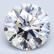 3.02-Carat Round Diamond Ideal F VS1