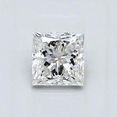 0.70 Carat 公主方形 Diamond 非常好 F SI1