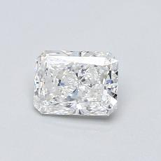 0,52-Carat Radiant Diamond Very Good E VS1