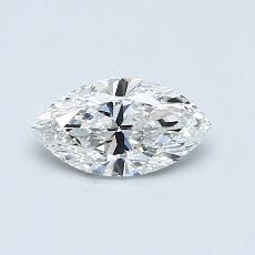 推薦鑽石 #2: 0.57 克拉欖尖形切割