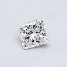 0.47-Carat Princess Diamond Very Good E VVS2