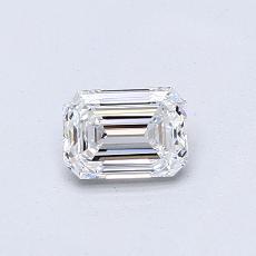 推薦鑽石 #4: 0.50  克拉綠寶石形切割鑽石