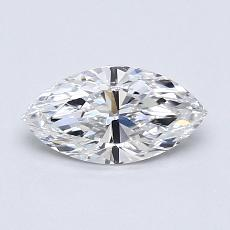 推薦鑽石 #3: 0.58  克拉欖尖形切割鑽石