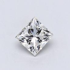 推荐宝石 2:0.55 克拉公主方形钻石