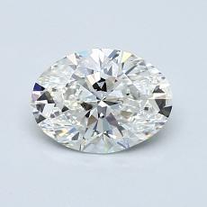 0.80-Carat Oval Diamond Very Good G VVS1