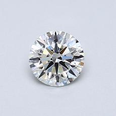 0.55-Carat Round Diamond Ideal F VVS1