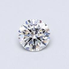 0.50-Carat Round Diamond Ideal D IF
