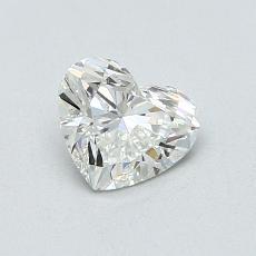 0,76-Carat Heart Diamond Very Good I SI1