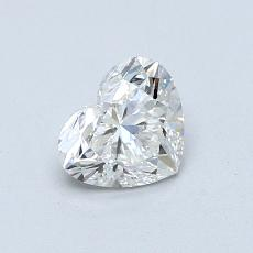 0.71-Carat Heart Diamond Very Good I SI1