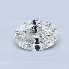 0.53 Carat 橢圓形 Diamond 非常好 F VVS1