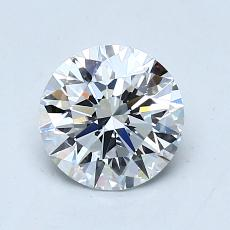 1.00-Carat Round Diamond Ideal D VS1