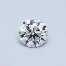 所選擇的鑽石: 0.46 克拉圓形切割鑽石